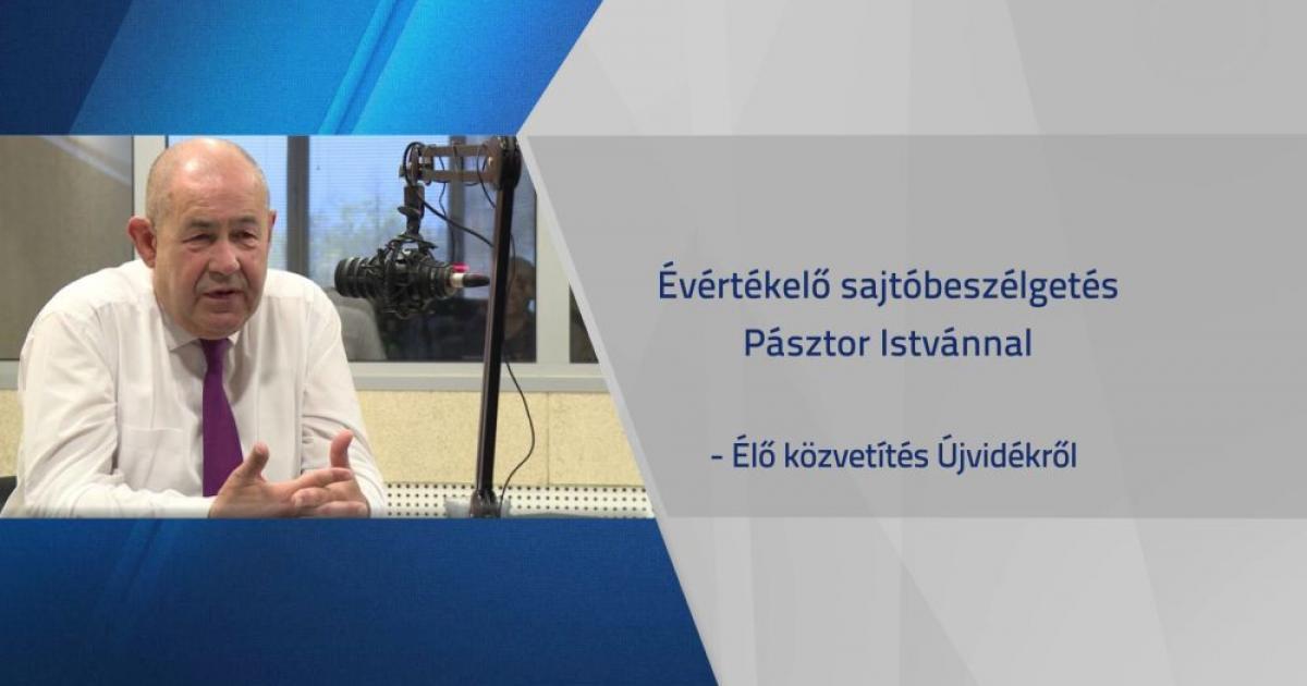 Évértékelő beszélgetés Pásztor Istvánnal – Élő közvetítés
