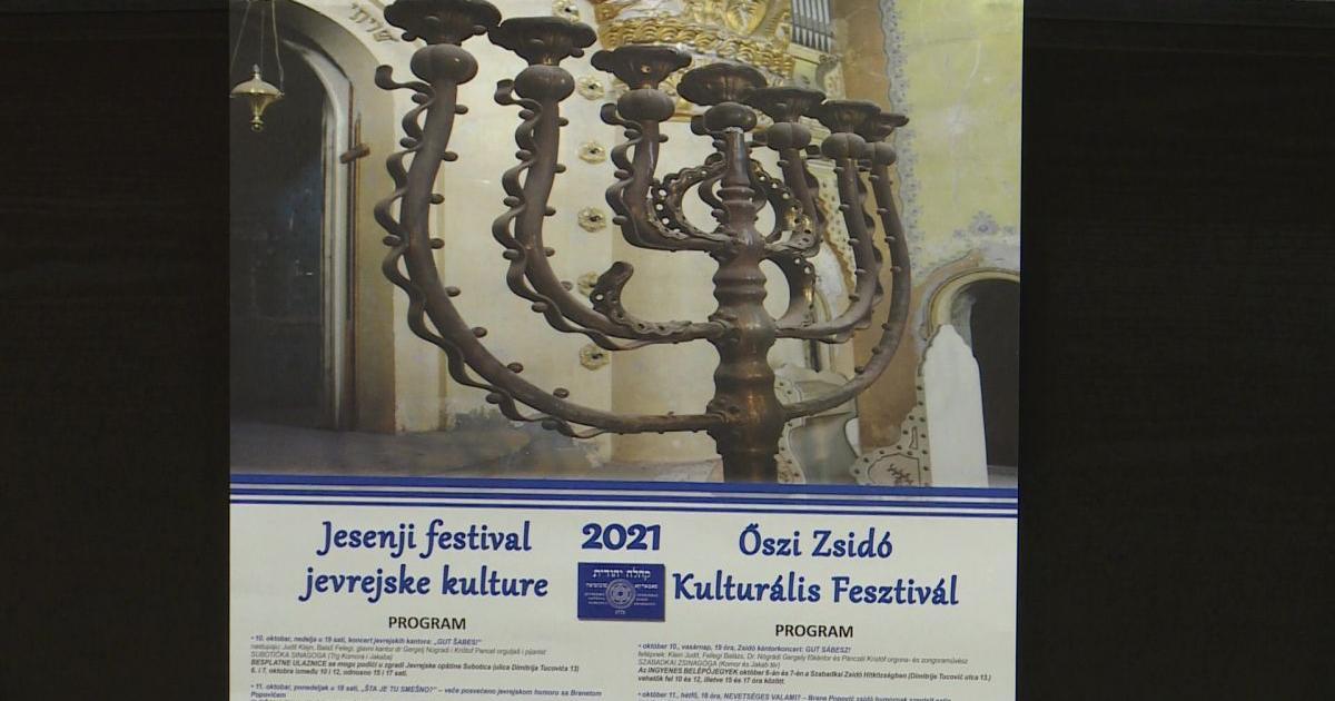 Vasárnap kezdődik az Őszi Zsidó Kulturális Fesztivál Szabadkán